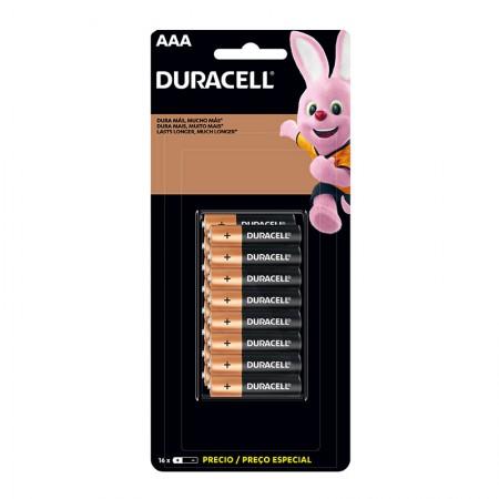 Pilha alcalina palito AAA - com 16 unidades - Duracell