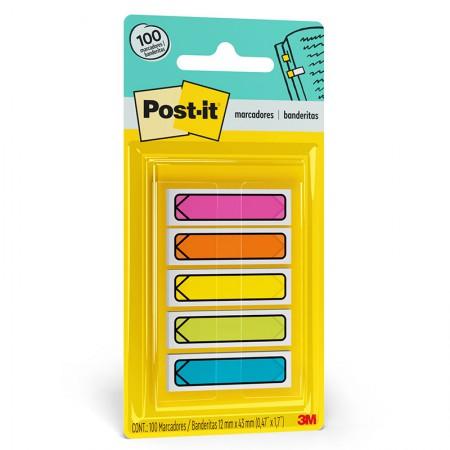 Post-It tape flags setas - 100 folhas  com 5 cores neon - 3M