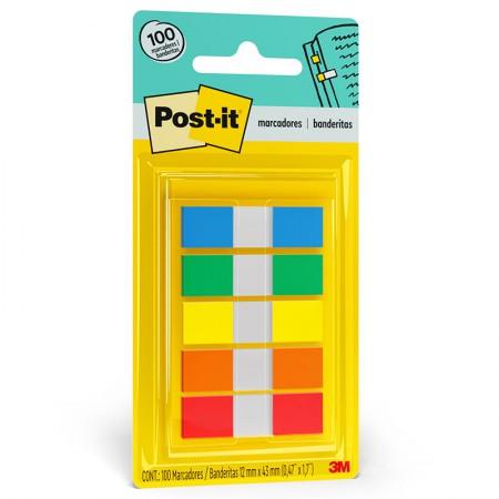 PostIt tape flags 5 cores sortidas 100fls 3M