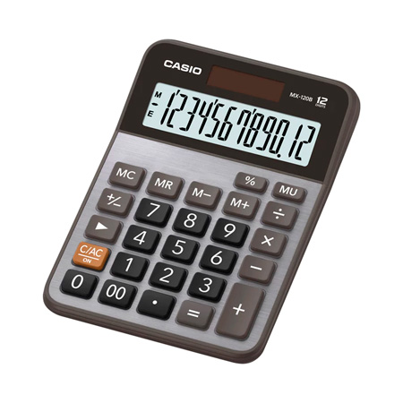 Calculadora de mesa 12 dígitos MX-120B - Casio