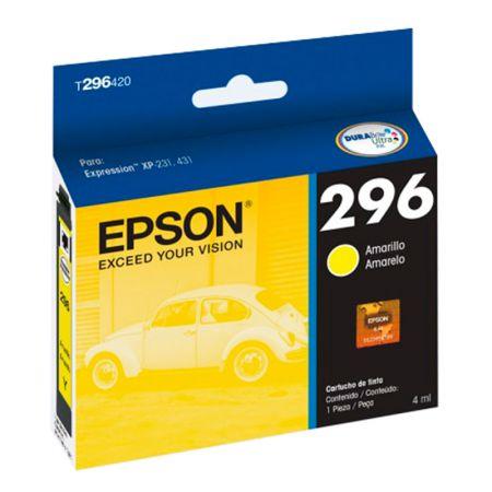 Cartucho Epson (296) T296420 - amarelo 250 páginas