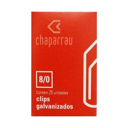Clips galvanizado NR 8/0 - com 25 unidades - Chaparrau