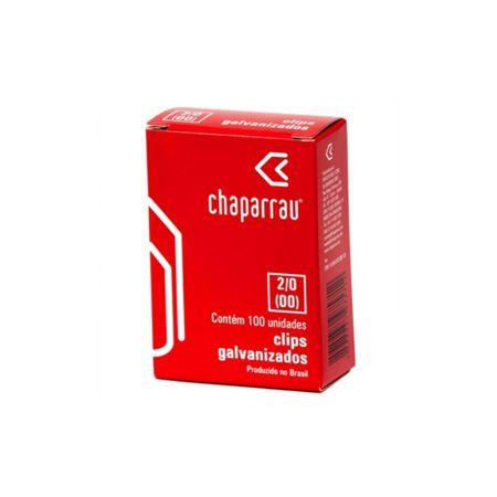 Clips galvanizado NR 2/0 (00) - com 100 unidades - Chaparrau