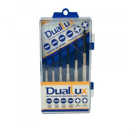 Kit de chaves de precisão com 6 peças - Duallux