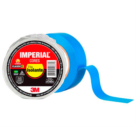 Fita isolante Imperial Azul 18mmx20Mts - 3M