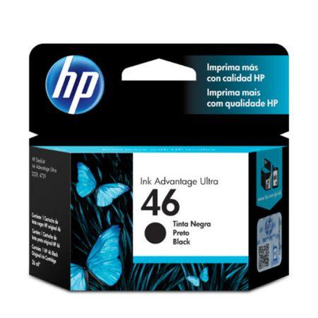 Cartucho HP Original (46) CZ637AL - preto rendimento 1.500 páginas