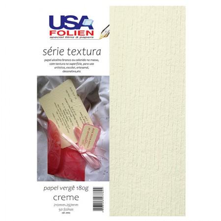 Papel verge A4 90g branco - com 100 folhas - 8436 - Usa Folien