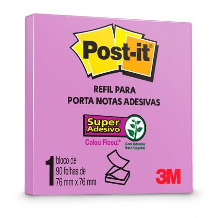 Bloco Post-It R-330 refil - roxo - com 90 folhas - 3M