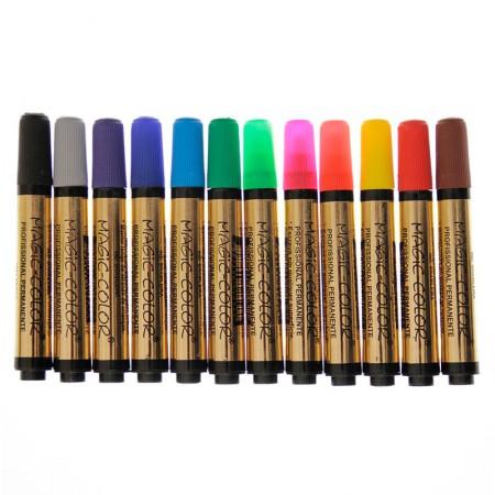 Caneta Magic Color com 12 cores - Linha Ouro - 641-0