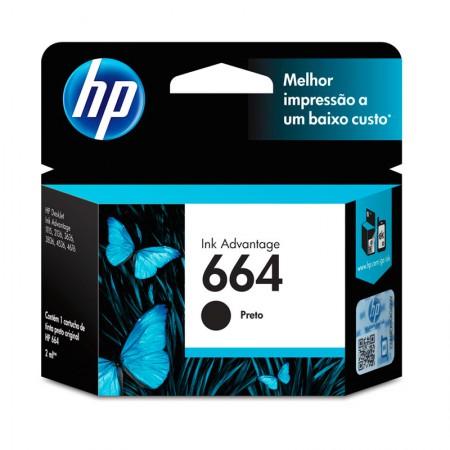 Cartucho HP Original (664) F6V29AB - preto rendimento 120 páginas