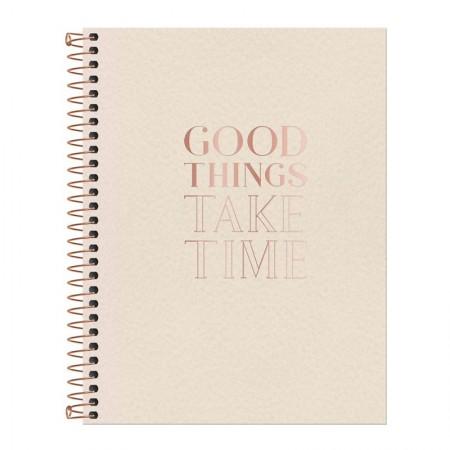 Caderno colegial capa dura executivo - 80 folhas - Vanilla - Capa 1 - Tilibra