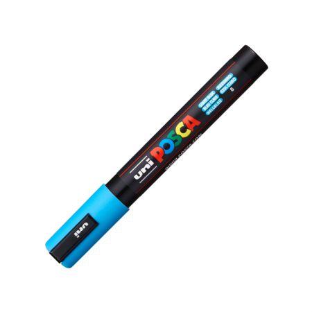 Caneta Posca PC-5M - azul claro - Uni-Ball