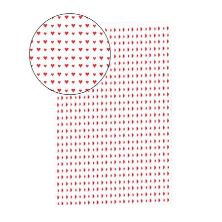 Placa de EVA 40x60cm - estampada corações branco - Seller