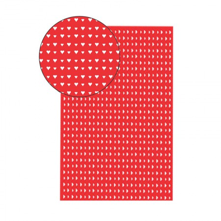 Placa de EVA 40x60cm - estampada corações vermelho -  Seller