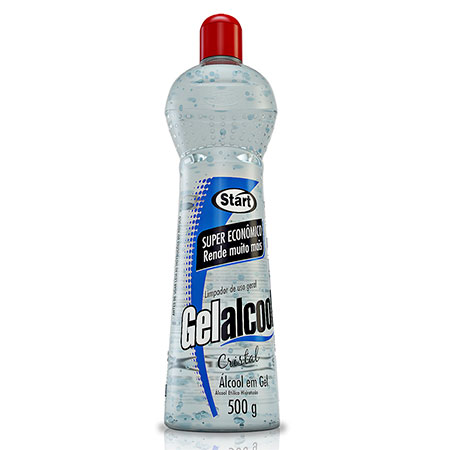 Álcool gel Gelalcool cristal 500g - 62,4 INPM - Start Química