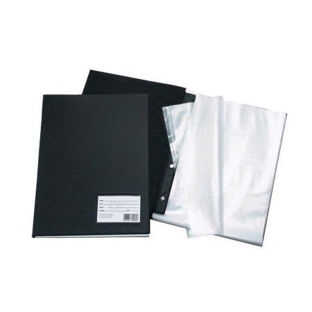 Pasta catálogo com visor 1028  Preto 10 envelopes plásticos Dac