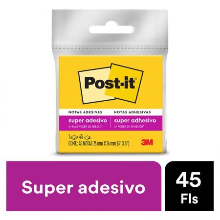 Bloco Post-It 654 - amarelo neon - com 45 folhas - 3M