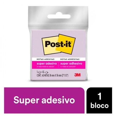 Bloco Post-It 654 - roxo - com 45 folhas - 3M