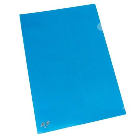 Pasta em L ofício - pacote com 10 unidades - Azul - 1134.AZ - ACP