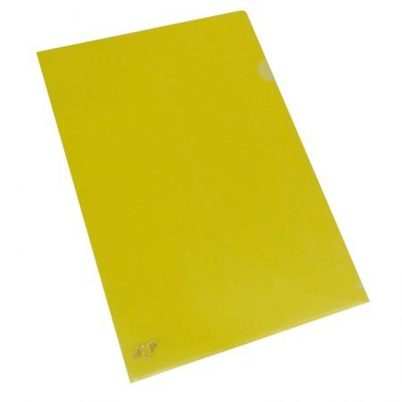 Pasta em L ofício - pacote com 10 unidades - Amarelo - 1134.AM - ACP