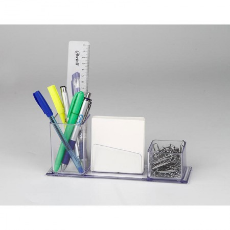 Porta lembrete/lápis/clips - cristal - 007.0 - Acrinil