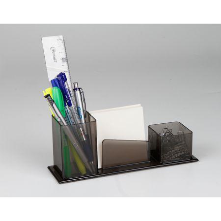 Porta lembrete/lápis/clips - fumê - 007.1 - Acrinil