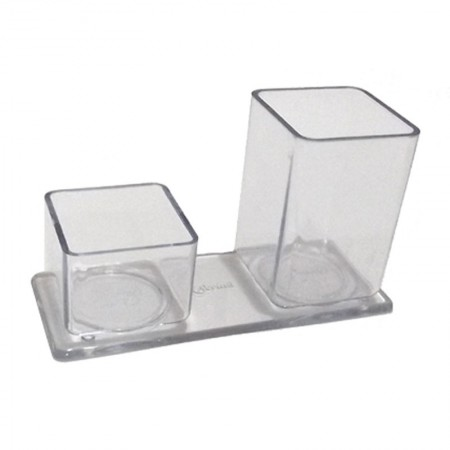 Porta lápis/clips - cristal - 006.0 - Acrinil