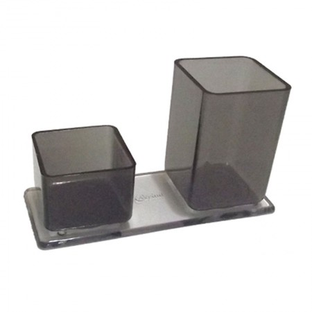 Porta lápis/clips - fumê - 006.1 - Acrinil
