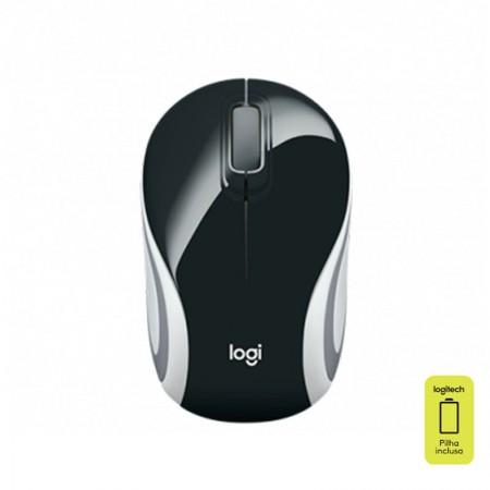 Mouse mini sem fio M187 preto - Logitech