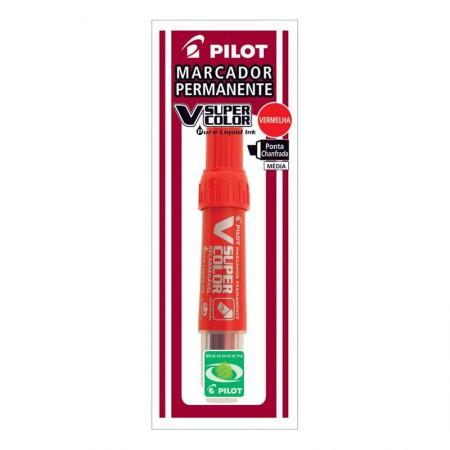 Pincel atômico Vsuper SCA-VSC-MC recarregável vermelho - Pilot