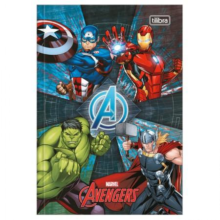 Caderno brochura capa dura 1/4 - 80 folhas - Os Vingadores - Capa 1 - Tilibra