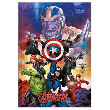 Caderno brochura capa dura 1/4 - 80 folhas - Os Vingadores - Capa 2 - Tilibra