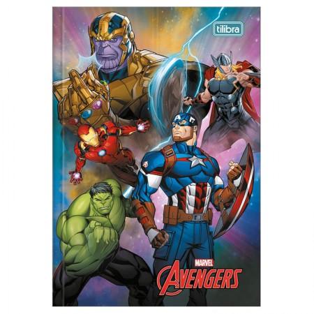 Caderno brochura capa dura 1/4 - 80 folhas - Os Vingadores - Capa 3 - Tilibra