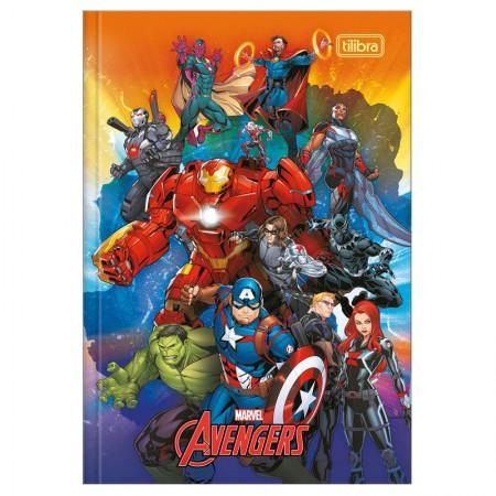Caderno brochura capa dura 1/4 - 80 folhas - Os Vingadores - Capa 4 - Tilibra
