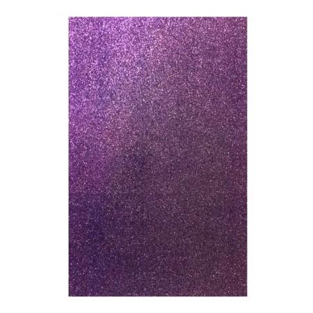 Placa de EVA 40x60cm - com glitter lilás - Seller