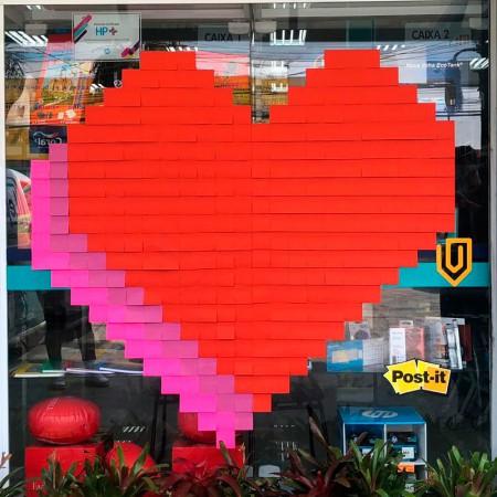 Post-it Art Coração - 6 Blocos - Faça você mesmo - 3M