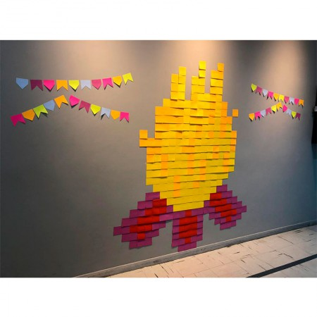 Post-it Art Fogueira - 6 Blocos - Faça você mesmo - 3M