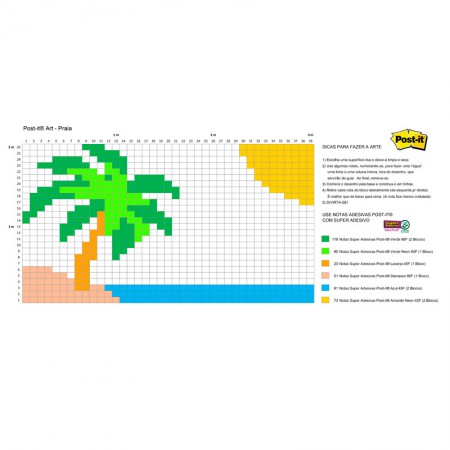 Post-it Art Praia - 9 Blocos - Faça você mesmo - 3M