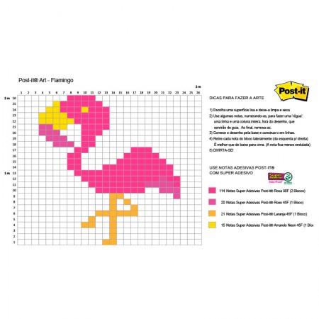 Post-it Art Flamingo - 5 Blocos - Faça você mesmo - 3M
