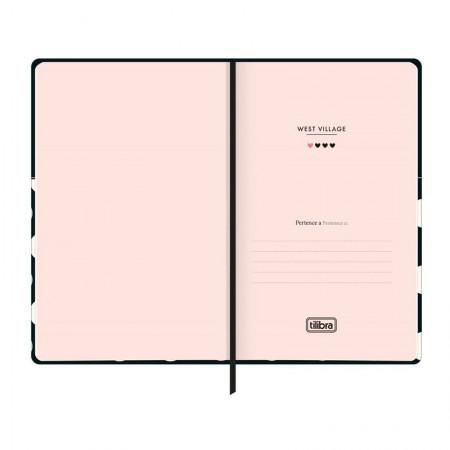 Caderneta capa dura 1/8 Fitto West Village - Sem Pauta - 80 folhas - Lista - Tilibra