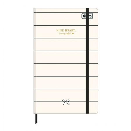 Caderneta capa dura 1/8 Fitto West Village - Sem Pauta - 80 folhas - Coração - Tilibra