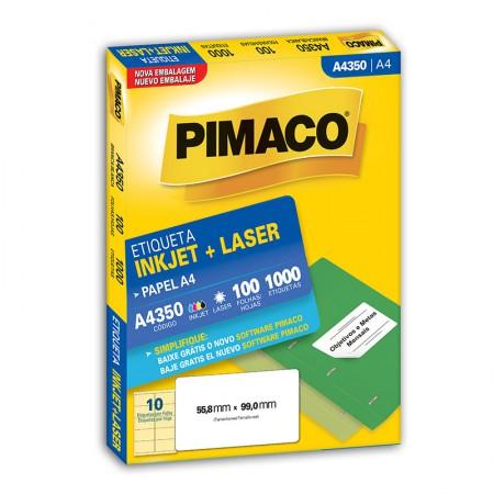 Etiqueta inkjet/laser A4350 - com 100 folhas - Pimaco