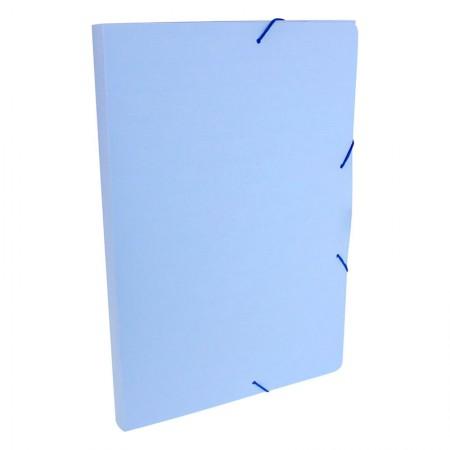 Pasta aba elástico ofício lombo 20mm - Linho Serena - Azul pastel - 247.BP - Dello