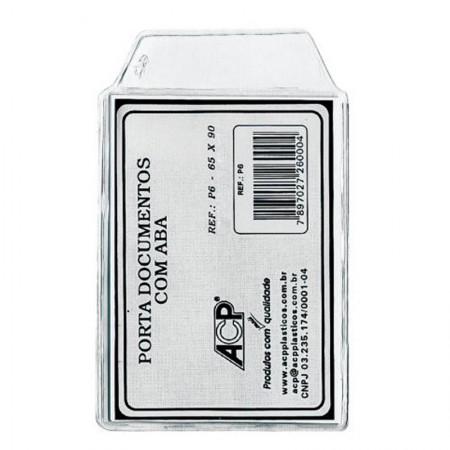 Porta documentos com aba P6 65x90mm - com aba - ACP