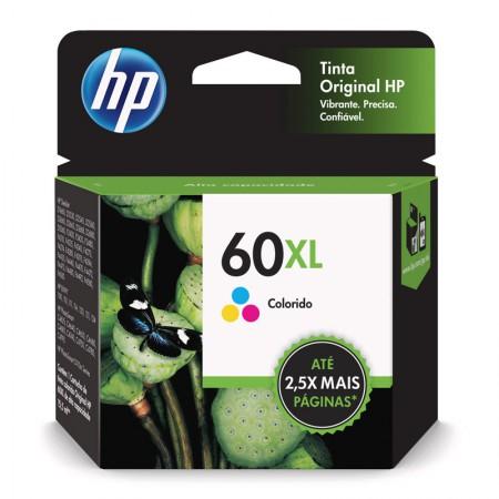 Cartucho HP Original (60XL) CC644WB - cores rendimento 440 páginas