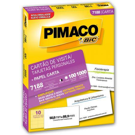 Papel cartão de visita personal card 7188 - com 100 folhas - Pimaco