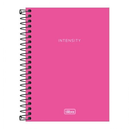 Caderneta capa dura espiral 1/8 - Neon Rosa - 80 folhas - Tilibra
