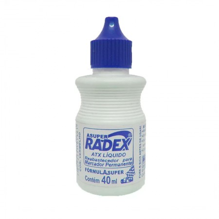 Tinta para pincel atômico 40ml - Azul - Radex