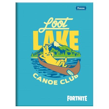 Caderno brochurão capa dura universitário 1x1 - 96 folhas - Fortnite - Capa 2 - Foroni