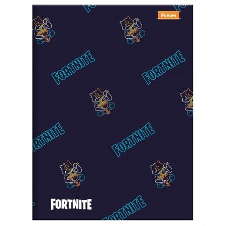 Caderno brochurão capa dura universitário 1x1 - 96 folhas - Fortnite - Capa 4 -  Foroni